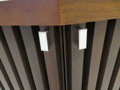Altavista Lane Handsome Pair of American Modern Ribbed Walnut Nightstands Mid Century Modern - 1629237