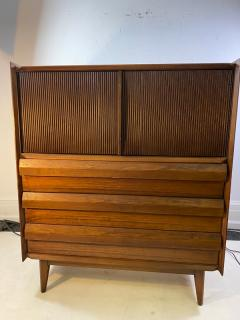 Altavista Lane MID CENTURY MODERN HIGH CHEST BY LANE IN THE MANNER OF GEORGE NAKASHIMA - 1527908