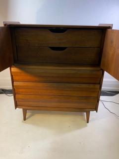 Altavista Lane MID CENTURY MODERN HIGH CHEST BY LANE IN THE MANNER OF GEORGE NAKASHIMA - 1527911