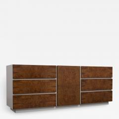 Altavista Lane Modern Burled Chest Credenza - 890469
