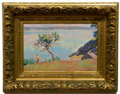 American Impressionist 20th century Summer by the Shore - 1285420