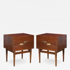 American of Martinsville Accord Nightstands by Merton Gershun for American of Martinsville Pair - 1817876