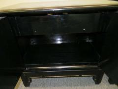 American of Martinsville Pair of Chinoiserie Style Asian Modern Lacquered Nightstands Mid Century - 1629537