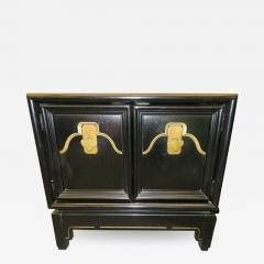 American of Martinsville Pair of Chinoiserie Style Asian Modern Lacquered Nightstands Mid Century - 1636265