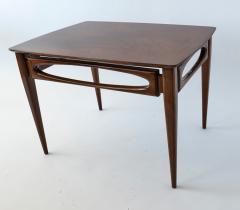American of Martinsville Set of 3 American Modern Walnut Nesting Tables - 1034537