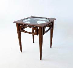 American of Martinsville Set of 3 American Modern Walnut Nesting Tables - 1034538