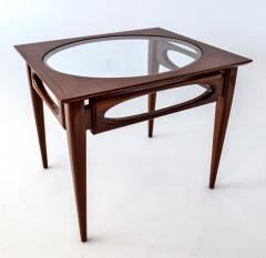 American of Martinsville Set of 3 American Modern Walnut Nesting Tables - 1034539
