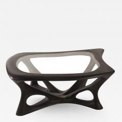 Amorph Amorph Ariella Coffee Table With Glass Top Solid Wood Ebony Finish - 1525287