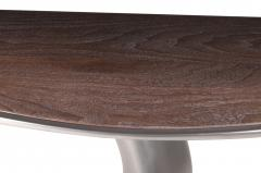 Amorph Amorph Haya Console Table Stainless Steel Finish with Top Walnut - 831287