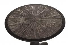 Amorph Amorph Helios Side Table Black Matte Lacquered Silver Leaves Gilding - 1119430