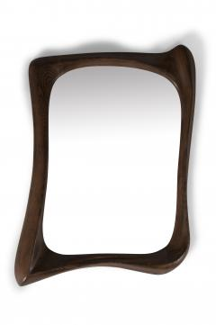 Amorph Amorph Narcissus Mirror frame Solid Wood Graphite Walnut Finish - 1244046