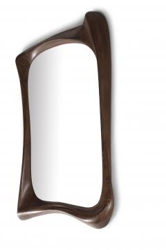 Amorph Amorph Narcissus Mirror frame Solid Wood Graphite Walnut Finish - 1244049