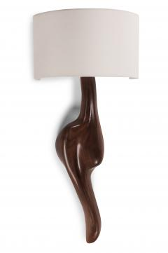 Amorph Amorph Oralee Sconces Natural Walnut with Ivory Silk Shade - 1038462