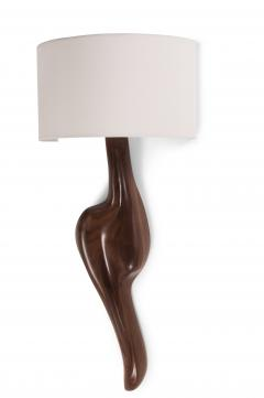 Amorph Amorph Oralee Sconces Natural Walnut with Ivory Silk Shade - 1038465