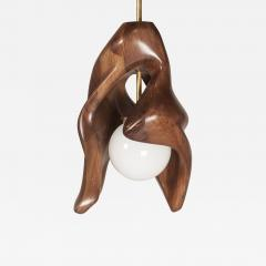 Amorph Amorph Tulip Pendant in Solid Walnut Wood and Opal Shade - 1848322
