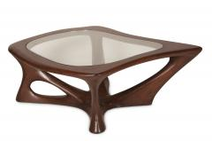 Amorph Ariella Coffee Table Solid Wood Walnut Stained with Glass Top - 1228157
