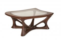 Amorph Ariella Coffee Table Solid Wood Walnut Stained with Glass Top - 1228158