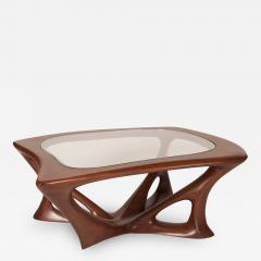 Amorph Ariella Coffee Table Solid Wood Walnut Stained with Glass Top - 1228775