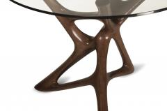 Amorph Ava Dining Table Graphite Walnut Finish with Glass - 1268432
