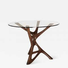 Amorph Ava Dining Table Graphite Walnut Finish with Glass - 1268654