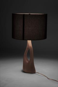 Amorph Contemporary Sculpture Wooden Table Lamp Solid Ash Wood - 632256