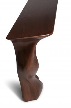 Amorph Contemporary Solid Ash Wood Console Table Walnut Finish - 684428