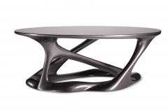Amorph Oval Shape with Organic Shape Legs Dark Gray Metallic Finish - 670067