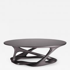 Amorph Oval Shape with Organic Shape Legs Dark Gray Metallic Finish - 671182