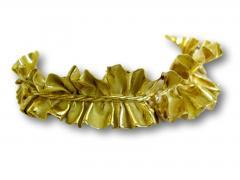 Annamaria Cammilli 1980 Anna Maria Cammilli Gold Ruff Choker - 164985