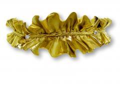 Annamaria Cammilli 1980 Anna Maria Cammilli Gold Ruff Choker - 164986