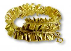 Annamaria Cammilli 1980 Anna Maria Cammilli Gold Ruff Choker - 164987