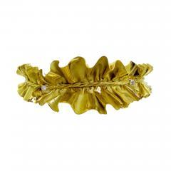 Annamaria Cammilli 1980 Anna Maria Cammilli Gold Ruff Choker - 165881