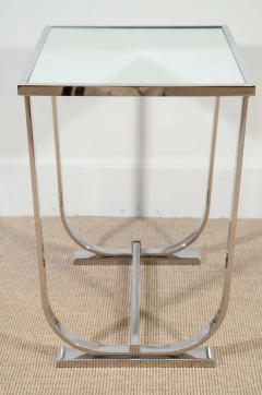 Appel Modern ART DECO STYLE CHROME AND MIRROR TABLE - 1614213