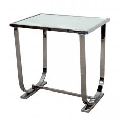 Appel Modern ART DECO STYLE CHROME AND MIRROR TABLE - 1614215