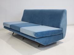 Arflex Marco Zanuso Sleep O Matic Blue Velvet Sofa - 1506236