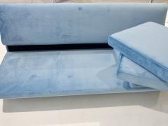 Arflex Marco Zanuso Sleep O Matic Blue Velvet Sofa - 1506240