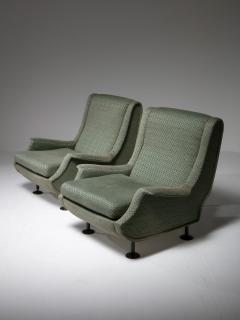 Arflex Pair of Regent Lounge Chairs by Marco Zanuso for Arflex - 1032214