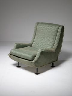 Arflex Pair of Regent Lounge Chairs by Marco Zanuso for Arflex - 1032215