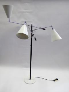 Arredoluce 1960s Iconic Arredoluce Triennale Three Arm Articulating Floor Lamp - 285472