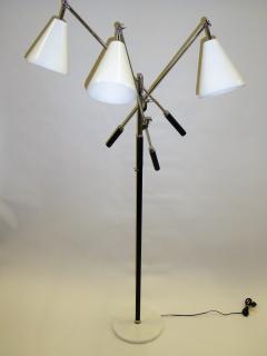 Arredoluce 1960s Iconic Arredoluce Triennale Three Arm Articulating Floor Lamp - 285473