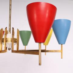 Arredoluce Festive Italian Multi Colored Modernist Chandelier Arredoluce 1950s - 1698108
