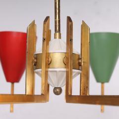Arredoluce Festive Italian Multi Colored Modernist Chandelier Arredoluce 1950s - 1698109