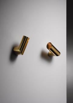 Arredoluce Pair of brass Arredoluce adjustable wall lamps - 1605946
