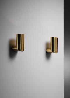 Arredoluce Pair of brass Arredoluce adjustable wall lamps - 1605947