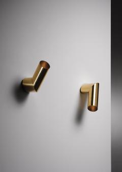 Arredoluce Pair of brass Arredoluce adjustable wall lamps - 1605948