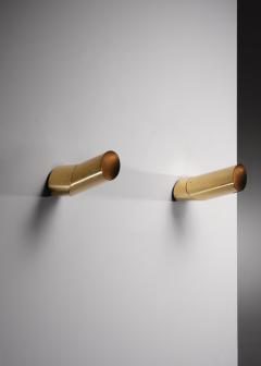 Arredoluce Pair of brass Arredoluce adjustable wall lamps - 1605949