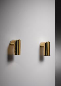 Arredoluce Pair of brass Arredoluce adjustable wall lamps - 1605950