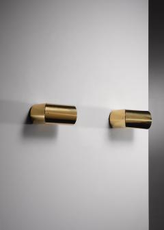 Arredoluce Pair of brass Arredoluce adjustable wall lamps - 1605951