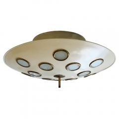 Arredoluce Saucer Flush Mount Chandelier Attributed to Arredoluce Italy 1950s - 397334