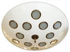 Arredoluce Saucer Flush Mount Chandelier Attributed to Arredoluce Italy 1950s - 397335